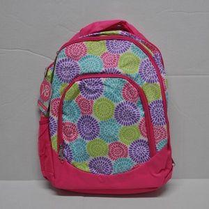 Girl's Pink White Purple Bloom Backpack Bookbag